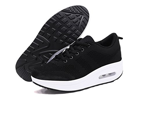 Air Talon 5cm Baskets Lacets Sport 34 Plateforme 39 Mesh Chaussures Athlétiques Compensée Blanc Violet Gym Femme Noir Rose Running Sneakers F8g0O7x