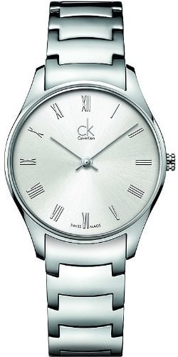 Calvin Klein K4D2214Z Watch Classic Ladies - White Dial Stainless Steel Case Swiss (Calvin Klein Womens White Dial)