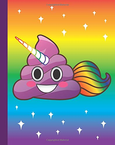 Cute Emoji Unicorn Poop Journal: Cute Magical Unicorn Purple Poo Unipoo Writing Book - Grid Paper Notebook, 160 Page Softcover Composition Journal, 4 ... Teens, Adults, Journaling, Notes and School