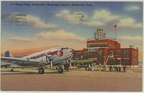 Nashville Airport - Nashville Tennessee Airport - Vintage Curt Teich Linen Postcard