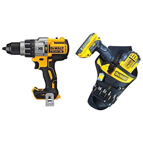 DEWALT DCD996B Bare Tool 20V MAX XR Lithium Ion Brushless 3-Speed Hammer Drill (Tool Only) with DG5120 Heavy-duty Drill ()