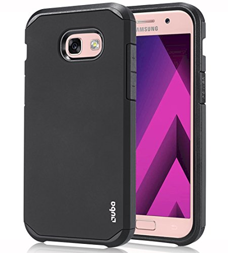 Ouba Galaxy A5 2017 Case, [Dual Layer] [Anti-Drop] Hybrid Defender Shockproof Rugged Premium Protective Case Cover for Samsung Galaxy A5 2017 - Black