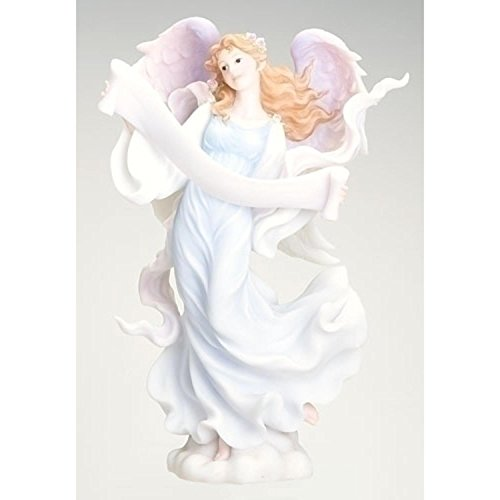 Seraphim Classics Ruth the Good News Angel Holding an Open Scroll Figure #71387 (Roman Scroll)