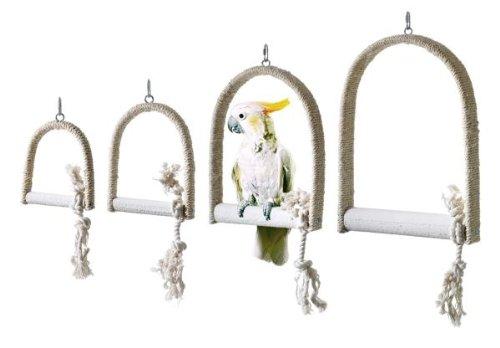 Karlie Flamingo 88650 Sisalschaukel Gr. S, 12 x 16 x 2 cm mit Kalkvogelstange
