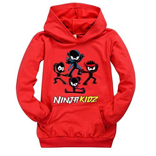 Moschin Kinderkleding Jongens Meisjes Tiener Tshirt Amazon Ninja Kidz Trui Jongens Hooded Sweatershirt Baby Roze Shirt…