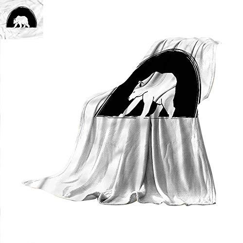 Animal Digital Printing Blanket Big Polar Bear Walking Summer Quilt Comforter 60