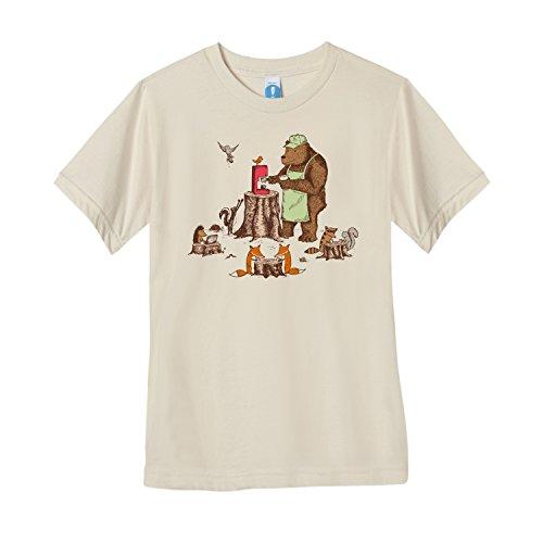 Shirt.Woot - Women's Your Friendly Neighborhood Bearista T-Shirt - Creme - Medium