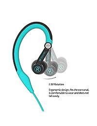 Auriculares deportivos con gancho para el oído y oreja, para correr, correr, correr, gimnasio, para iPhone, iPod, Samsung