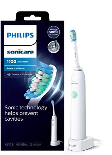 Philips Sonicare DailyClean 1100 Rechargeable Electric Toothbrush, White HX3411/04