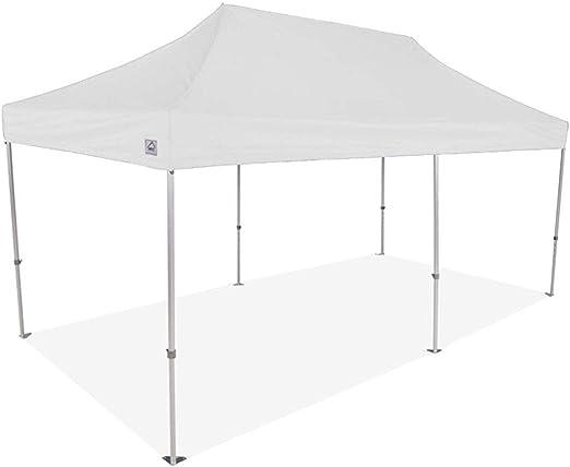 Impact Canopy - Tienda de campaña con toldo (10 x 20 cm, Estructura de Acero y Bolsa con Ruedas), Color Blanco: Amazon.es: Jardín