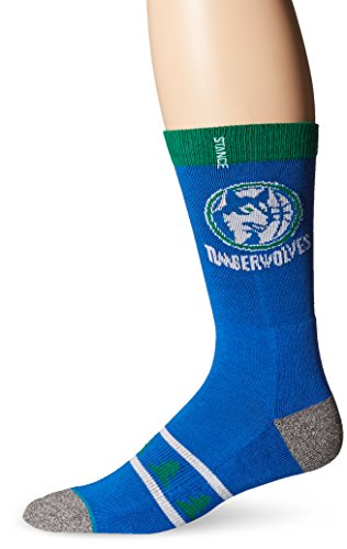 Stance Men's NBA Hardwood Crew Socks, Minnesota Timberwolves, Medium/Shoe Size 6-8.5