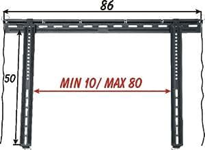 "Prandini MOD. PS3 65"" Negro - Soporte de pared para pantalla plana (45 kg, 106,7 cm (42""), 165,1 cm (65""), Negro)"