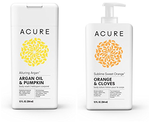 Acure Alluring Argan Body Wash and Sublime Sweet Orange Body