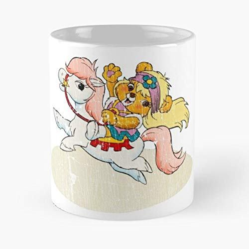 Princess Paw On Flying Cloud Distressed Classic Mug - The Funny Coffee Mugs For Halloween, Holiday, Christmas Party Decoration 11 Ounce White