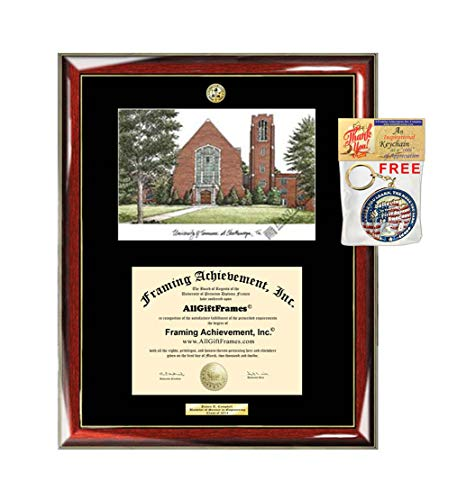 University of Tennessee Chattanooga UTC Diploma Frame School Lithograph Major Logo Graduate Gift Graduation Degree Display Plaque Certificate Holder Case University - Tennessee Chattanooga Lithograph