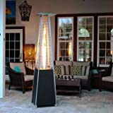Golden Flame Resort Model 40,000 BTU Glass Tube Pyramid Style Flame Patio Heater in Hammered Mocha-Bronze Finish Review