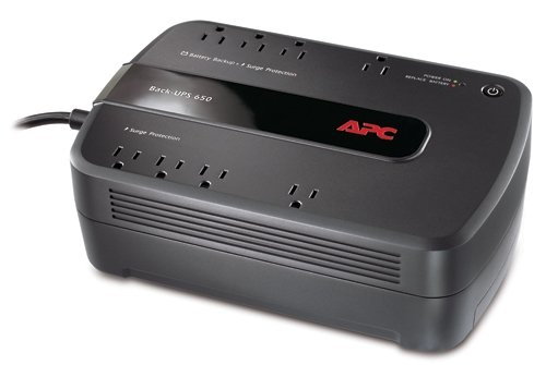 y Backup & Surge Protector with Dataline Surge Protection, APC UPS BackUPS (BE650G1) ()