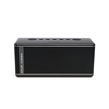 Riva Audio Turbo X Black Bluetooth Speaker and Speakerphone With Travel Bag