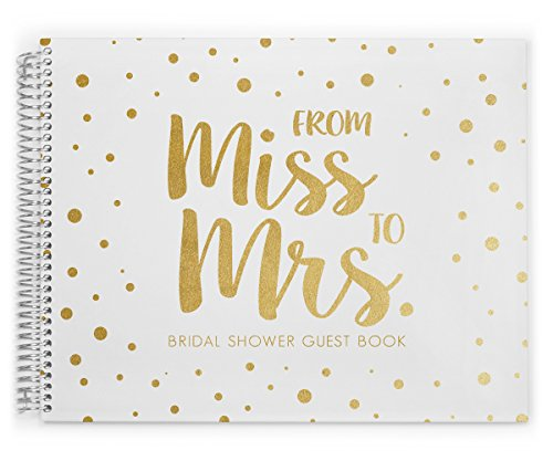 Bridal Shower Guest Book by PurpleTrail, Bridal Shower Party Guest Book, Full Foil Guest Book, Foil Bridal Shower Guest Book, to Mrs.