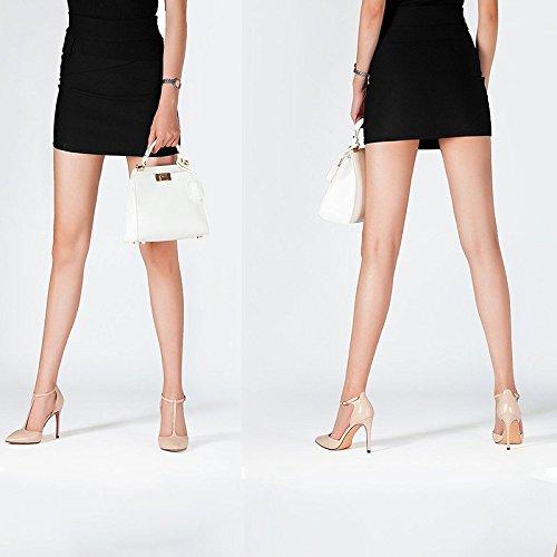 Zapatos 5 Zapatos 3 Punta Color 36 Sandals US De Cuero Tamaño Beige JP Baotou 5 Atractiva De 5 Mujer Tacón EU Aguja Roman para La del JIANXIN Beige UK De De Verano 23cm qHP4dxq