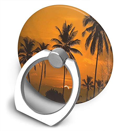 Cell Phone Holder Sunrise in Tamborim in South Goa Ring Cell Phone Stand Finger Grip Holder for Ipad,Kindle,Phone X/6/6S/7/8/8 Plus/7,Galaxy S9/S9 Plus/S8/S7,Android Smartphone,Divi,Accessories Desk ()