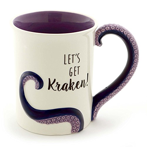 "Enesco 6000550 Our Name Is Mud ""Kraken"" Stoneware Sculpted Coffee Mug, 16 oz, Purple (Gifts Kraken)"
