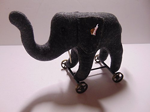 Steiff Felt Elephant on Wheels