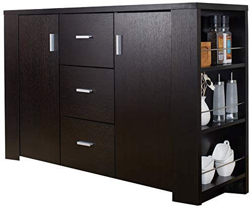 ioHOMES Quincy Dining Buffet/Server, Cappuccino (Buffet Sideboard Metal)