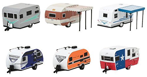 Greenlight 34020 Hitched Homes Series 2 Assortment (6-Trailer Set)