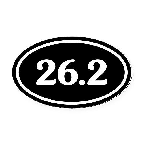 Marathon 26.2 Oval Runner (CafePress - 26.2 Marathon Runner Oval Car Magnet - Oval Car Magnet, Euro Oval Magnetic Bumper Sticker)