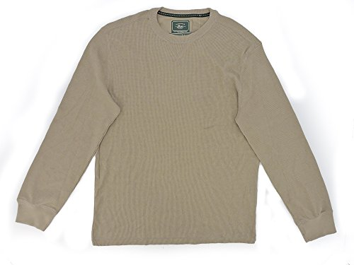 Mens GH Bass Vintage Khaki Heather Textured Thermal Long Sleeve Shirt XLarge