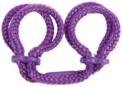 Gift Set Of Japanese Silk Love Rope Wrist Cuffs - Purple And one package of T... by Topco Sales