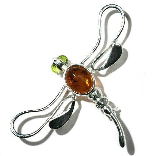 rling Silver Dragonfly Pin Brooch ()
