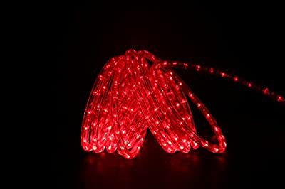 Direct-Lighting 24ft Super Bright Heavy Duty Red Rope Lights with 288 LEDs - Expandable to 216 Ft.