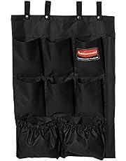 Rubbermaid Commercial 9-Pocket Housekeeping Cart Organizer, Black, FG9T9000BLA