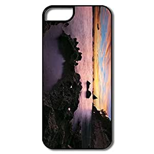 Customize Cartoon Safe Slide Coastal Sunset IPhone 5/5s Case For Family