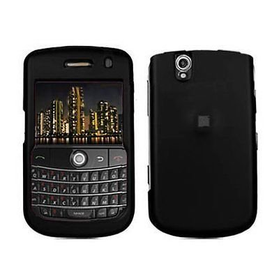 Hard Rubberized Case for Blackberry Tour 9630/9650 - Black