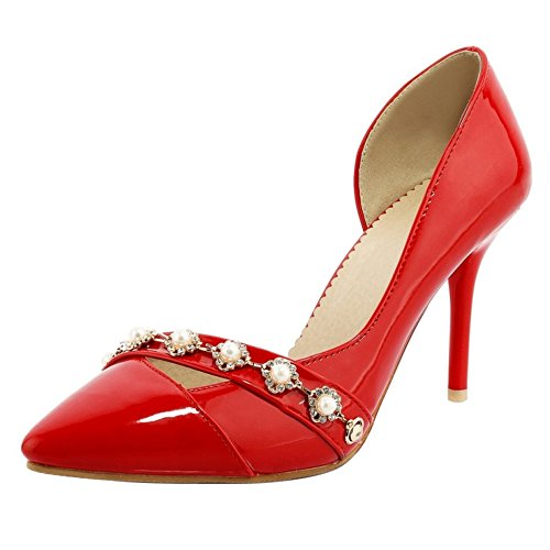 Shoes Court D'Orsay Mujer 16 Moda TAOFFEN Red qnU14I