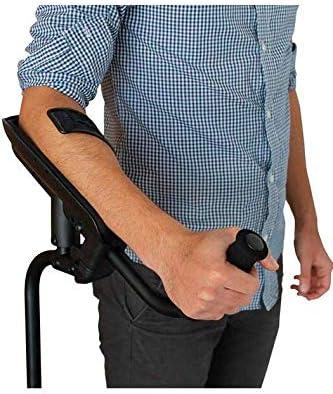 KMINA - Muletas adulto regulables aluminio, Muletas ortopédicas, Muletas ergonomicas, Muletas adulto acolchadas, Muleta PRO Unidad Derecha