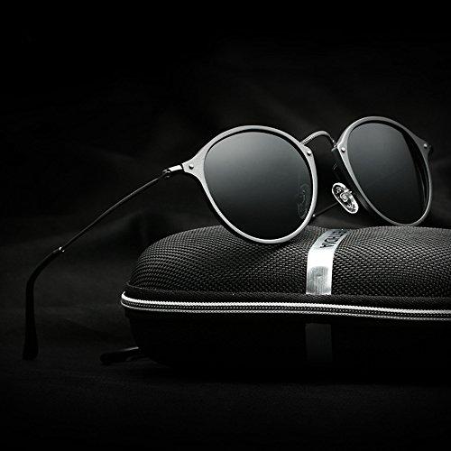 VEITHDIA de Noir gris Lunettes soleil Homme qYRqwzT