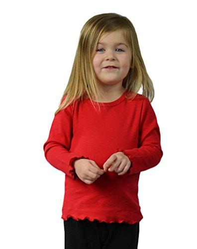 Monag Lettuce Edge Long Sleeve T-Shirt 2Y Red