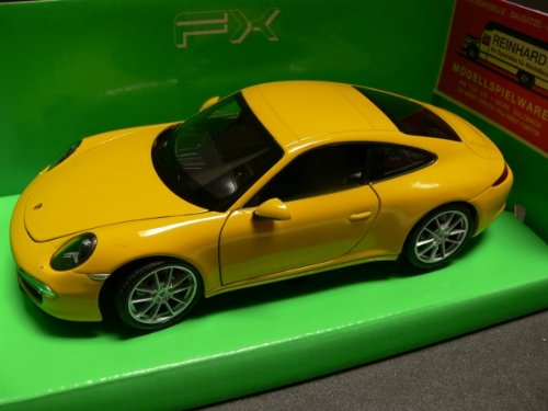 WELLY 1/24 - 24040W PORSCHE 911 991 CARRERA S YELLOW Porsche 911 Motor