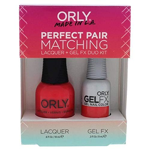 Orly Perfect Pair Gel & Lacquer Duo Kit, Haute Red ()