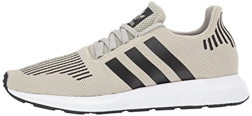 Sesame Run Homme Swift Adidas black white Formateurs Textile qwXn8P8
