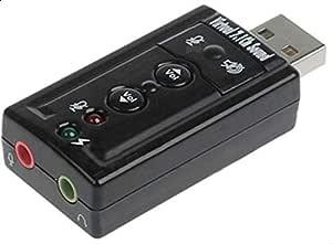 وصلة تحويل مدخل سماعة ومايك  الكومبيوتر إلى يو اس بي    USB SOUND ADAPTER 7.1 CHANNEL