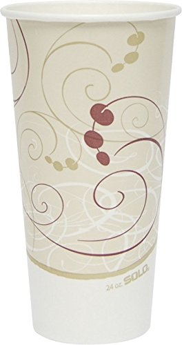 SOLO RP24P-J8000 Double-Sided Poly Paper Cold Cup, 24 oz....