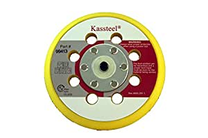 "Kassteel 99413 5"" by 8 Hole Back-up Pad 13mm Thick 5/16""-24 Threaded Hub for Hook & Loop Discs (1 Pad)"