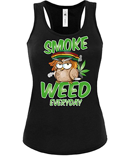 Drogen - SMOKE WEED EVERYDAY - mujer camiseta Tamaño S to XXL varios colores S-XL Negro