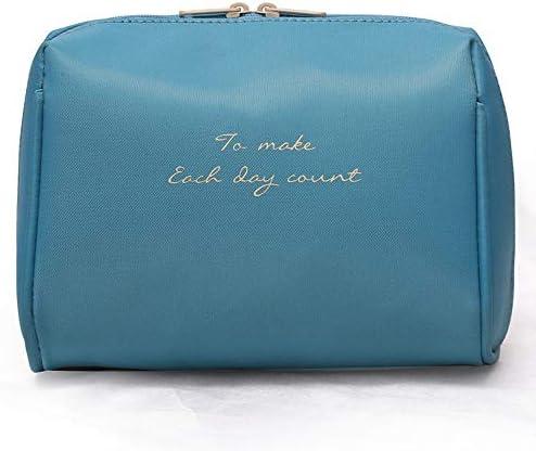 トラべラブ圧縮バッグ ナイロン防水手三次元旅行化粧品袋小さなポータブル収納袋化粧ウォッシュバッグ トラベルポーチ 出張 旅行 便利グッズ (Color : Blue, Size : Free size)