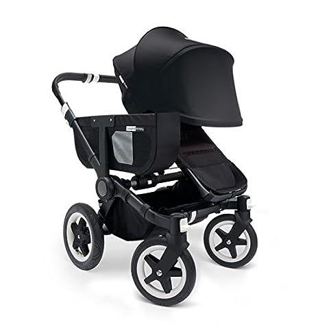 Bugaboo Donkey Mono Stroller Bundle, Black Base with Black Tailored Fabric Set (Donkey Twin)